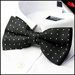 Black with X Bow Tie
