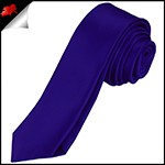 Mens Electric Blue Indigo Plain Skinny Tie