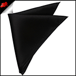 Mens Black Pocket Square