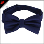 Mens Dark Midnight Blue Bow Tie