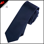 Mens Dark Midnight Blue Skinny Necktie