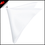 Mens White Pocket Square Handkerchief
