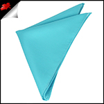 Mens Turquoise Aqua Pocket Square Handkerchief