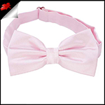 Mens Baby Light Pink Plain Bow Tie