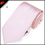 Mens Baby Light Pink Plain Necktie