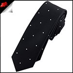 Black Pin Dot Mens Skinny Necktie