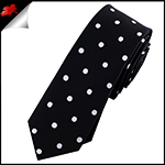 Black Polka Dot Mens Skinny Necktie