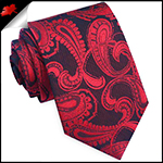 Black & Red Paisley Mens Tie