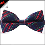 Blue, Red, Purple & Green Tartan Plaid Bow Tie