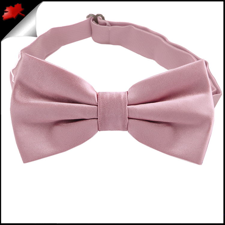 blush dusky pink plain bow tie canadian ties
