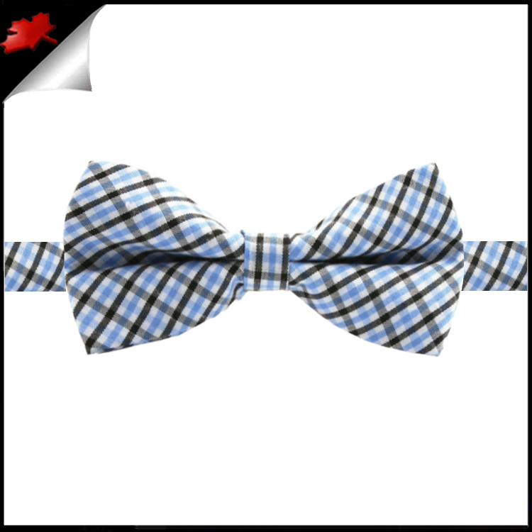 boys black white and blue gingham bow tie canadian ties