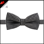 Boys Black with White Polka Dots Bow Tie
