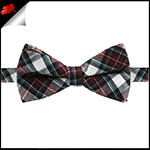 Boys Burgundy, Blue, Black and White Tartan Bow Tie