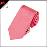 Boys Dark Coral Melon Plain Necktie