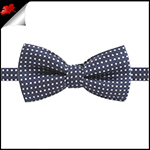 Boys Midnight Blue with White Polka Dots Bow Tie