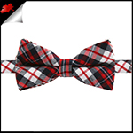 Boys Midnight, Red and White Tartan Bow Tie