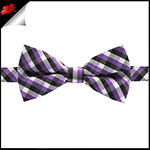 Boys Purple, Black and White Check Bow Tie