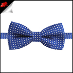 Boys Royal Navy Blue with White Polkadots Bow Tie