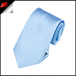 Boys Sky Baby Blue Plain Necktie