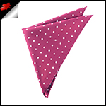 Burgundy Polka Dot Pocket Square Handkerchief