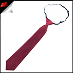 Burgundy Red Junior Boys Elasticated Necktie