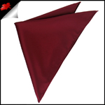 Mens Burgundy Red Pocket Square Handkerchief