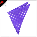 Cadbury Amethyst Polka Dot Pocket Square Handkerchief