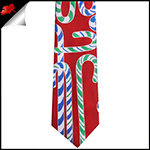 Candy Canes on Red Christmas Tie