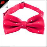 Cherry Red Pin Dot Mens Bow Tie