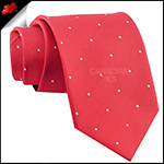 Cherry Red Pin Dot Mens Tie