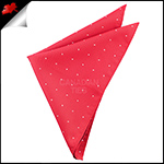 Cherry Red Pin Dot Pocket Square Handkerchief
