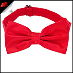 Mens Cherry Red Plain Bow Tie
