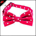 Cherry Red Polka Dot Mens Bow Tie