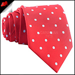 Cherry Red Polka Dot Mens Tie
