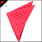 Cherry Red Polka Dot Pocket Square Handkerchief