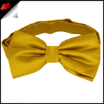 Mens Classic Gold Yellow Plain Bow Tie