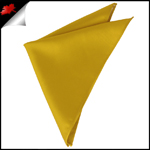 Mens Classic Gold Yellow Pocket Square Handkerchief