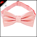 Mens Coral Salmon Plain Bow Tie