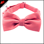 Mens Dark Coral Melon Plain Bow Tie