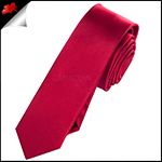 Mens Scarlet Red Skinny Plain Necktie