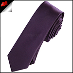 Mens Grape Eggplant Purple Plain Skinny Tie