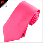 Mens Bright Hot Pink Plain Necktie