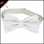 Mens Ivory Champagne Plain Bow Tie