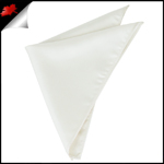 Mens Ivory Champagne Pocket Square Handkerchief