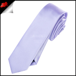 Mens Lavender Lilac Purple Plain Skinny Tie