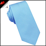 Light Sky Blue Ribbed 6cm Mens Slim Tie