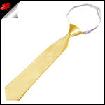 Light Gold Yellow Junior Boys Elasticated Necktie
