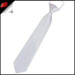Light Silver Grey Junior Boys Elasticated Necktie