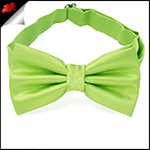 Mens Lime Green Plain Bow Tie