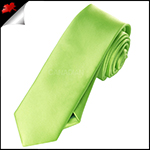 Mens Lime Green Plain Skinny Tie